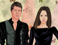Angelina and Brad Dolls