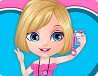 Baby Barbie Selfie Card