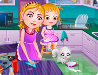 baby hazel cleaning time girl games rh girlgames com All Baby Hazel Games Baby Hazel Crying