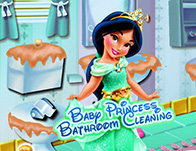 Baby Jasmine Bathroom Cleaning