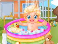 Baby Lizzie Outdoor Bathing