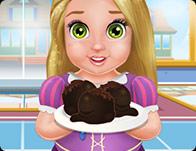 Bebek Rapunzel Yemek Kek Topları - Baby Rapunzel Cooking Cake Balls oyna