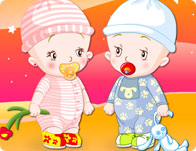 Baby Twins Dress Up - Girl Games