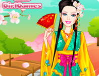 Barbie Japanese Princess Dress Up