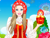 Barbie Russian Doll Dress Up