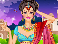 Barbie Saree Dressup