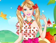 Barbie Strawberry Princess Dress Up