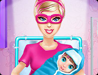 Barbie Superhero and the New Born Baby