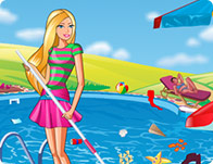 Barbie Swimming Pool Cleaning