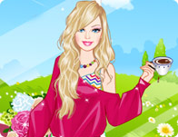 Barbie Tea Time Dress Up