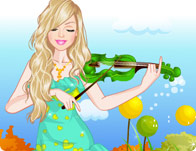 Barbie Violin Player Dress Up