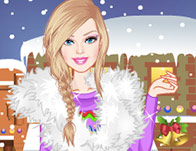 Barbie Winter Shopping Dress-up
