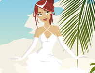 Beach Bride Dress Up