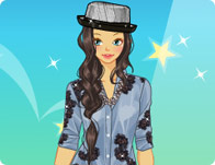 Blue Denim Dress Up