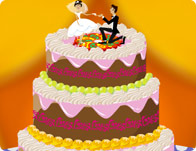 Bride Cake Decorating