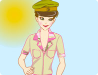 Chic Army Girl Dress Up