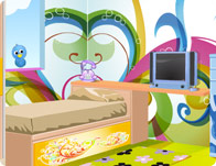 Cinderella style room decoration girl games children room decoration junglespirit Images