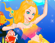 Colorful Mermaid Princess