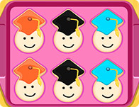 Crunchy Graduate Cookies