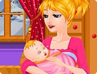 Cute Baby Feeding