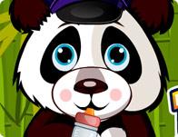 Cute Baby Panda Caring