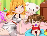 Cute Baby Sitter Dress Up