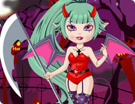 Cute Devil Girl Dressup