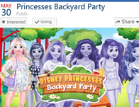 Disney Princesses Backyard Party