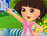 Dora in Flower Garden Dressup