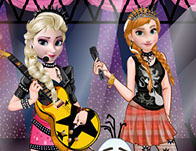 Elsa and Anna Rock Band