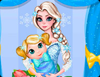 Elsa Baby Room Cleaning Girl Games