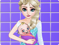 Elsa Washing Clothes For Newborn