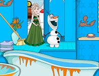 Elsa Winter Bathroom Cleaning