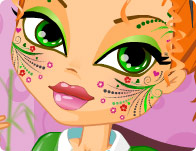 Cute Face Painting tile