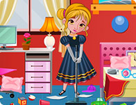 Frozen Anna Bedroom Cleaning Girl Games