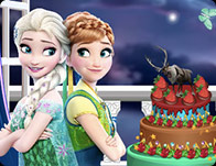 Frozen-Monster High Cake Decor