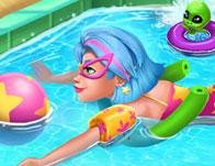 Galaxy Girl Swimming Pool