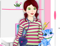Girl with Kitty Dressup