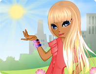 Click Here to Play Glittering Hair Styles!