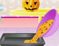 Halloween Pumpkin Cake Cooking