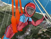 Hang-Gliding Girl