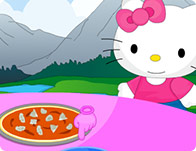Hello Kitty Cooking Touchdown Pizza