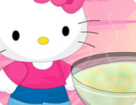 Hello Kitty Leek And Potato Soup
