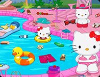 Hello Kitty Messy Swimming Pool