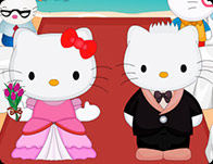 Hello Kitty Wedding Kissing