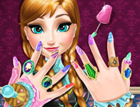 Nail games for girls girl games ice princess nails spa prinsesfo Gallery