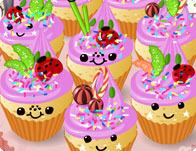 Kawaii Cupcakes tile
