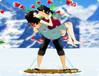 Kiss While Skiing