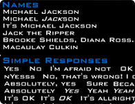 Michael Jackson Soundboard