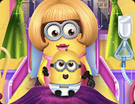 Minion Girl and the Newborn Baby